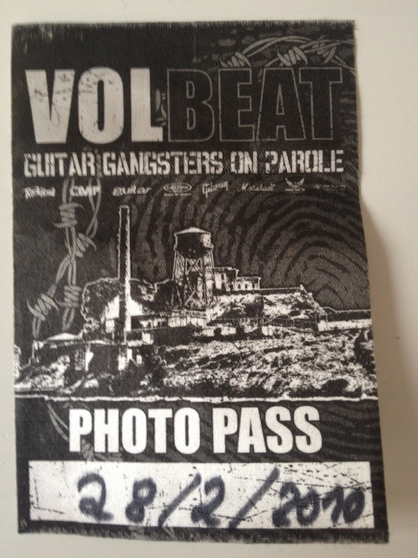 Fotopass Volbeat/Prag