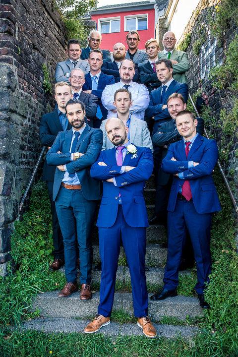 Hochzeitsfotos aus Duisburg von Britta & Michael- Gruppenbild Männer