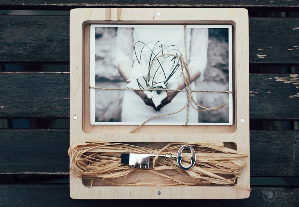 Hochzeitsbox mit Bildern und USB Stick
