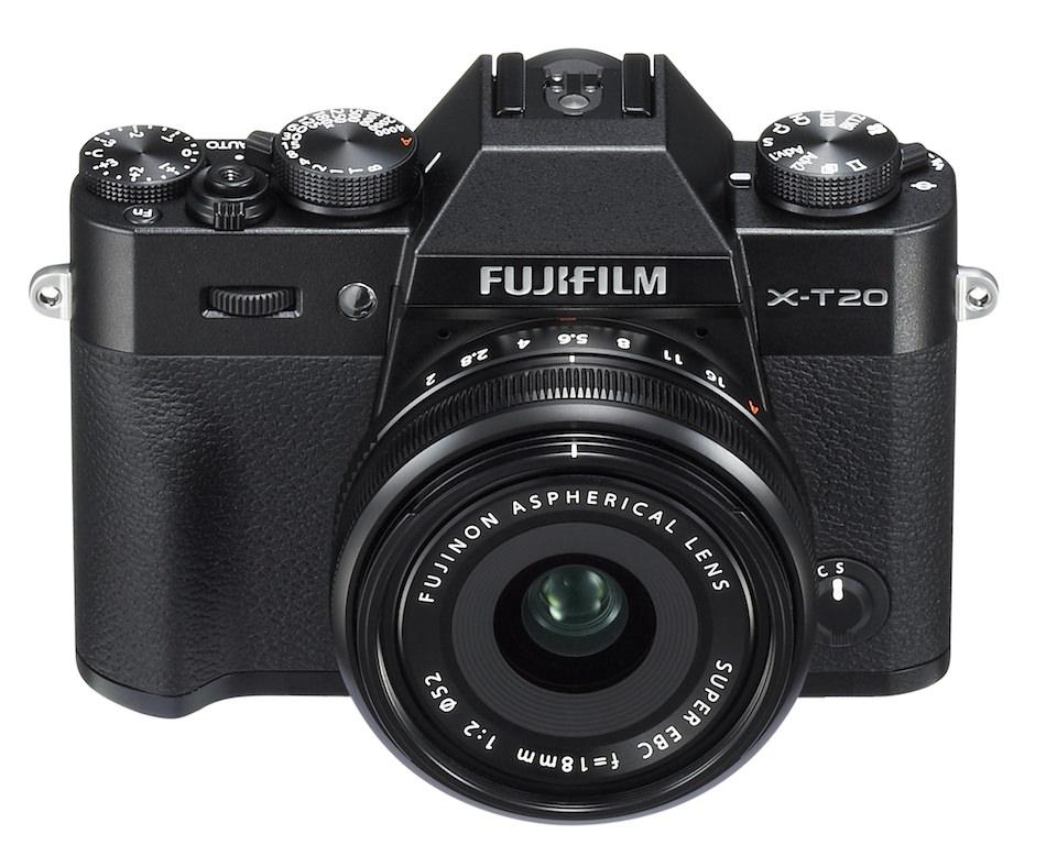 Fuji Kamera mit Objektiv