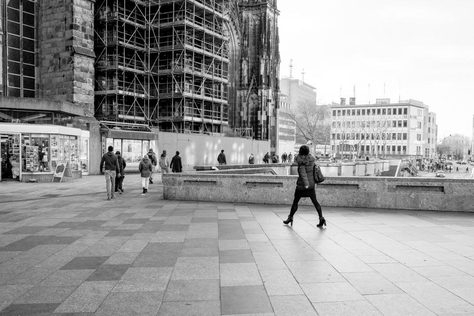 Spaziergänger in Köln