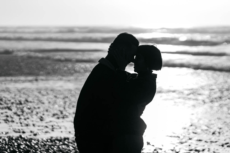 Paarshooting am Strand
